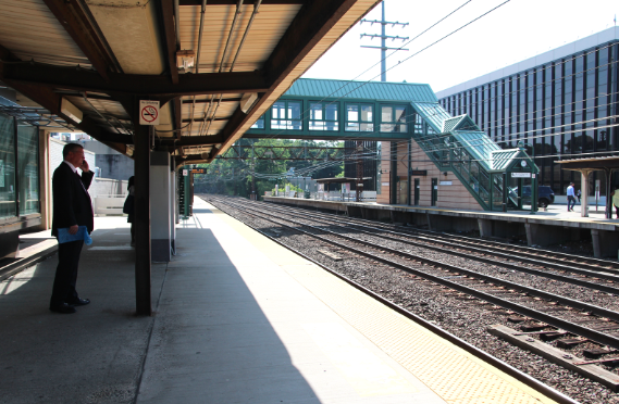 Greenwich Railroad Station today south side facing tracks