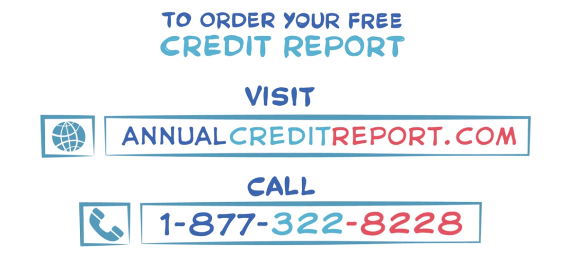 From FTC Check Your Credit Report video found 2019