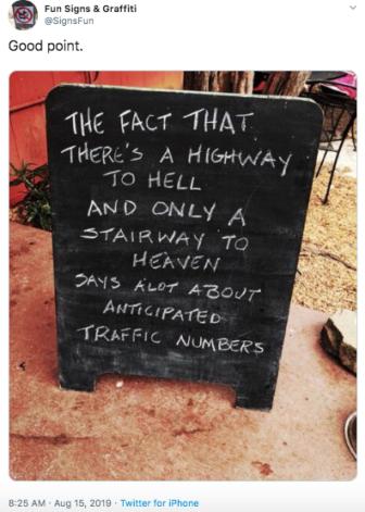 Tweet highway to hell