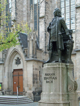 Statue Johann Sebastian Bach in Leipzig 1908