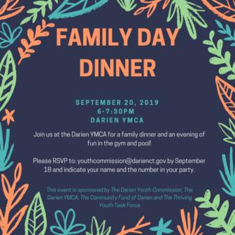 Family Day Dinner poster 2019