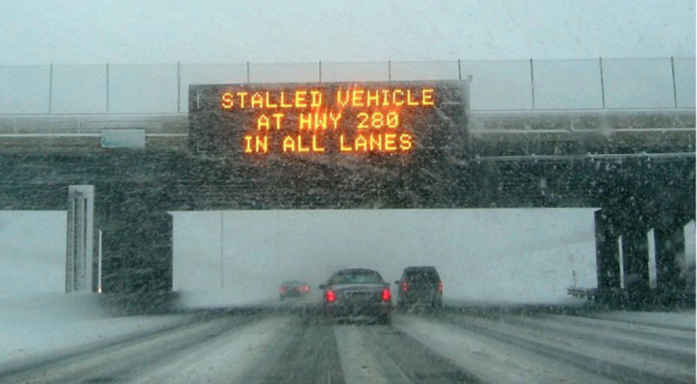 Variable Message Sign Wikimedia https://commons.wikimedia.org/wiki/File:MN_Changeable_Message_Sign.jpg