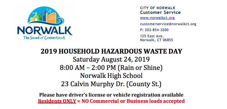 Norwalk household hazardous waste flyer 2019 part