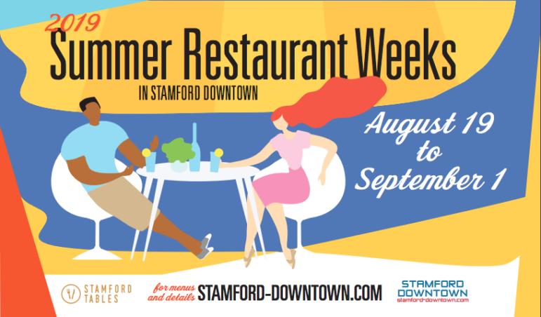 Stamford Restaurant Weeks 2019 Publicity image
