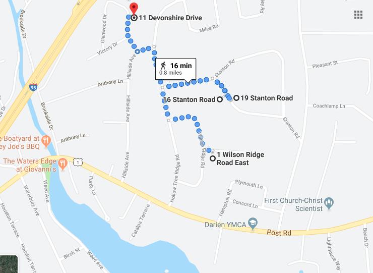 Google Maps four vehicles entered overnight same neighborhood 8/11-12/19