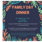 Family Day Dinner poster facebook dimensions