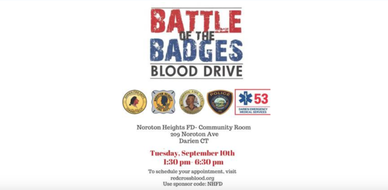 Battle of the Badges blood drive Darien 2019
