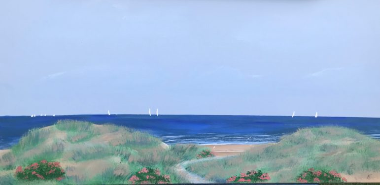 Peter Saverine beach dunes art