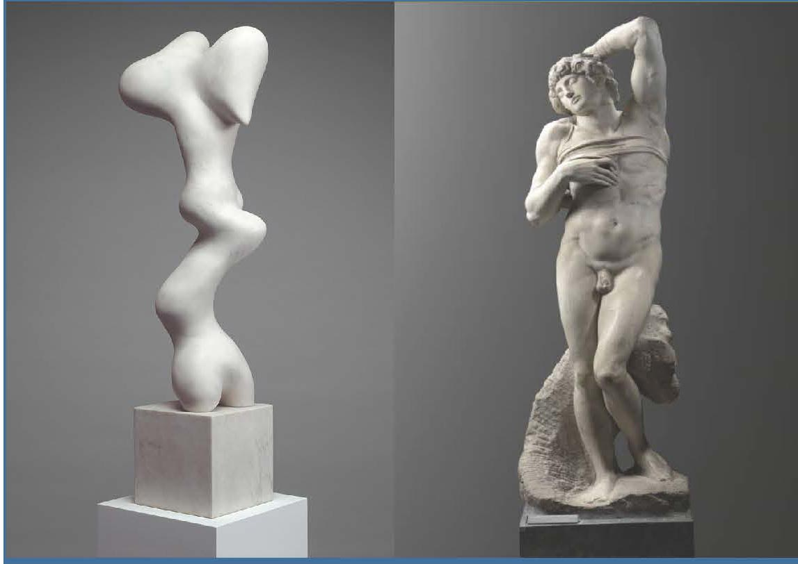 Growth by Jean Arp and Slave by Michelangelo