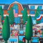 Nobu Miki art Artists at Grove Street Plaza