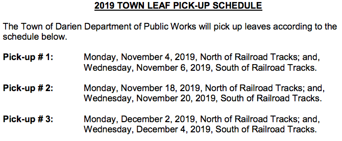 Leaf pickup areas 2019