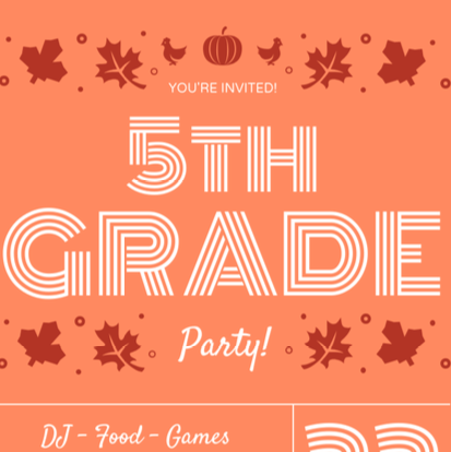 Fifth Grade party Depot square Oct 2019