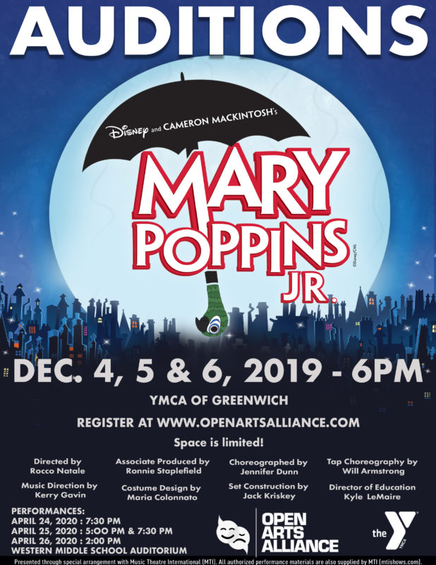 Mary Poppins JR Auditions