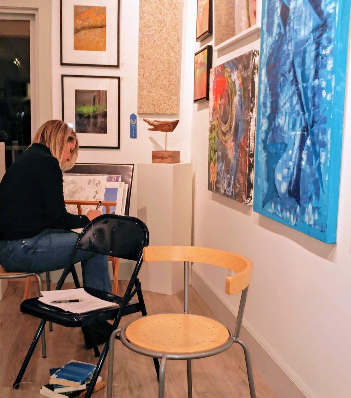 Rowayton Arts Center poetry writing based on art workshop