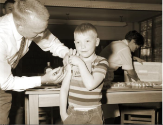 Measles vaccination shot 2433