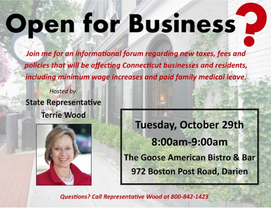 Image for Terrie Wood constituent meeting 10-29-19 about business