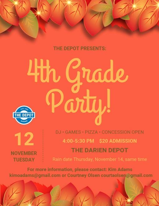 4th Grade Party Darien Depot Nov 2019