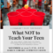 What NOT to Teach Your Teen facebook dimensions