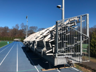 Temporary stands at the stadium Turkey Bowl 2019