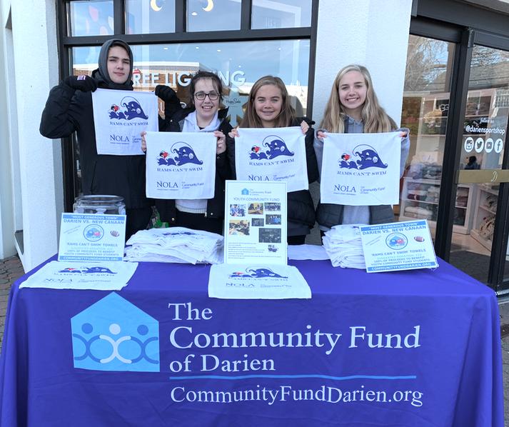 Rams Can't Swim towels Community Fund of Darien 2019