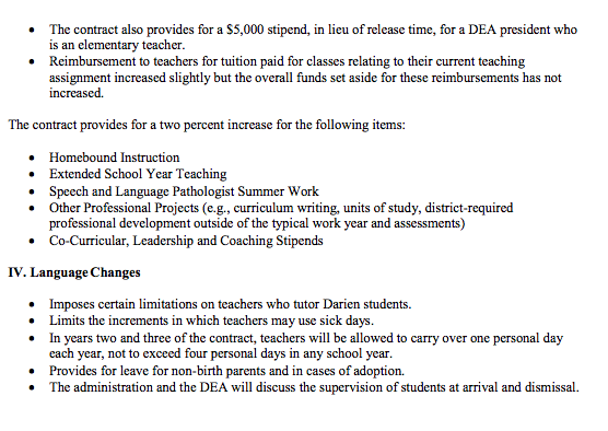 Teachers contract memo page 2