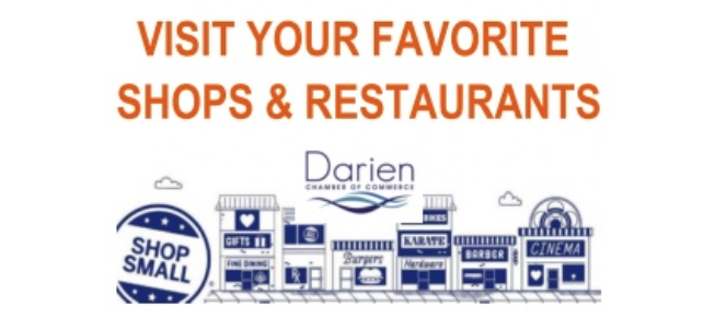 Small Business Saturday 2019 from Darien Chamber image horizontal for Facebook