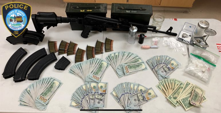 Seized items Andrew Creamer drug and weapons arrest
