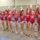 Darien YMCA gymnastics team Rhode Island meet