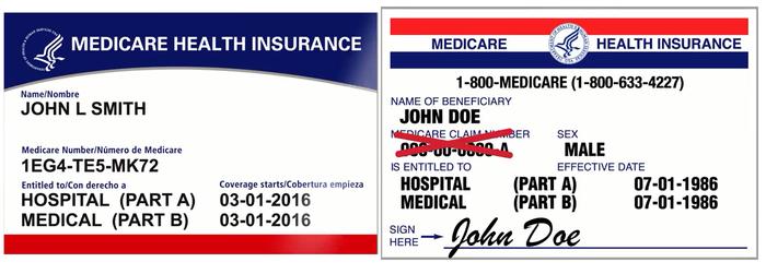 Medicare cards 2019