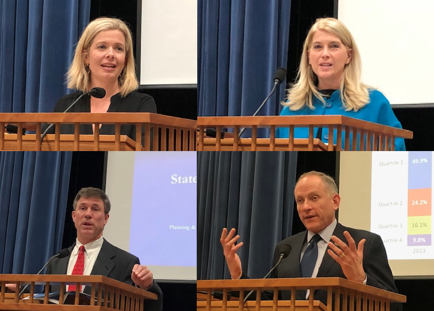State of the Town Address four speakers
