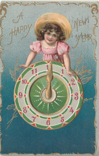 New Year's Day Eve child postcard ebay cancelled 1909