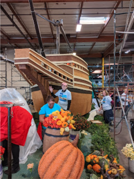 Mayflower float Rose parade Wilder-Tamme 2020
