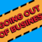 Going Out of Business wide blue generic