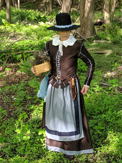 Carol Wilder-Tamme costumed
