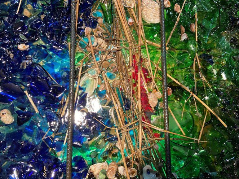 Details of cast glass sculptures created by Rachel Owens