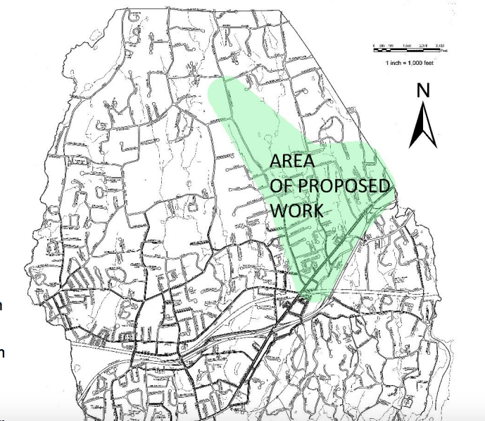 Sewer inspection work map Feb 10 to 14 2020 DPW