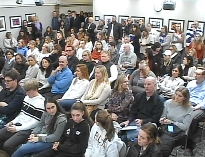 Crowd at Board of Eduation Feb 4 2020