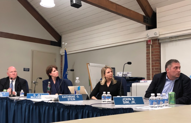 Board of Education members listening 02-04-20