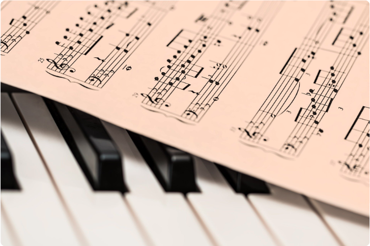 Music Sheet Piano Keys Studio Showcase Series Darien Library