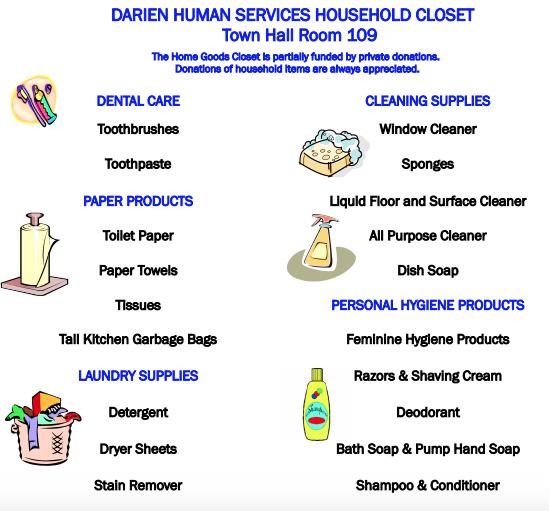 Darien Human Services Household Supply Closet 2020