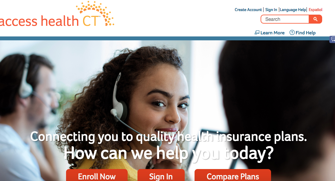 AccessHealthCT home page website