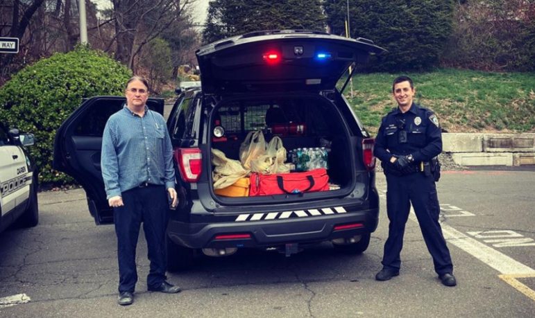 Police Deliver Food to Seniors COVID-19
