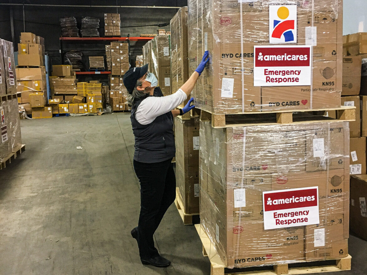 Americares KN95 Mask Donation Americares Warehouse