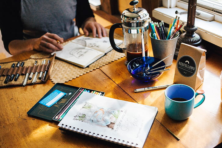 Coffee and Draw workshop Darien Arts Center
