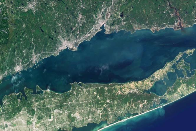 Long Island Sound satellite image from Maritime Aquarium