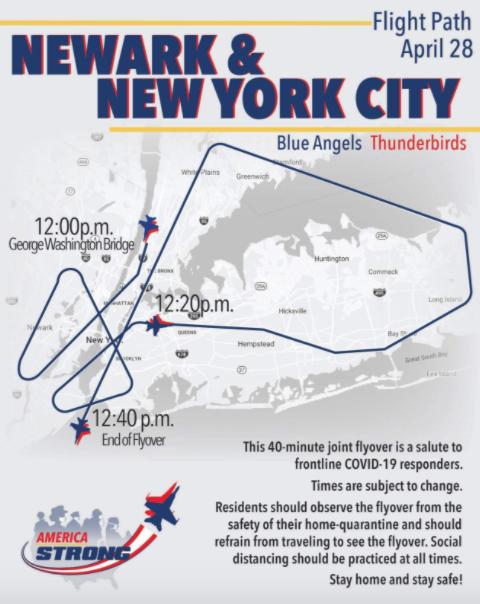 USAF Flyover map for April 28, 2020