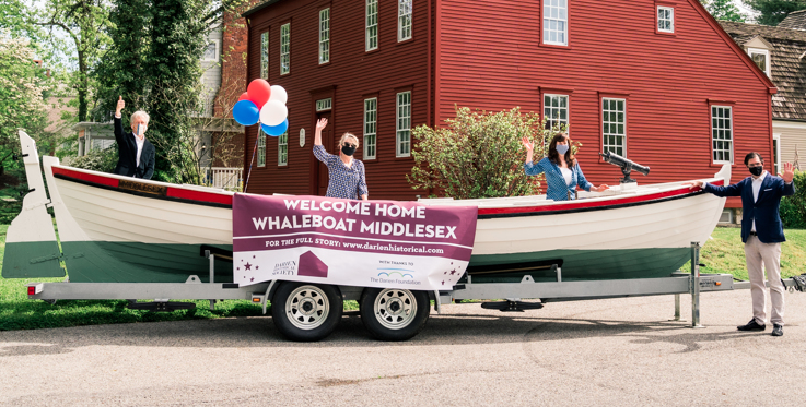 Whaleboat Middlesex unveiling masks