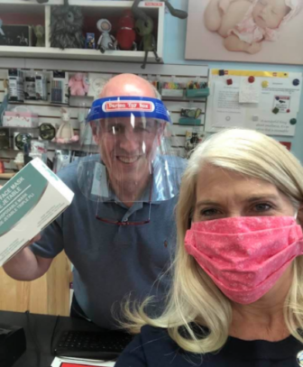 Masks distributed to Darien businesses