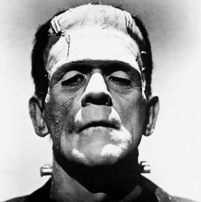 Frankenstein https://commons.wikimedia.org/wiki/File:Frankenstein%27s_monster_(Boris_Karloff).jpg