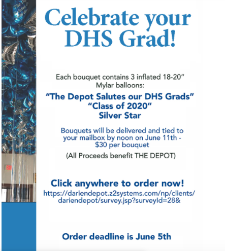 2020 balloons for DHS graduation
